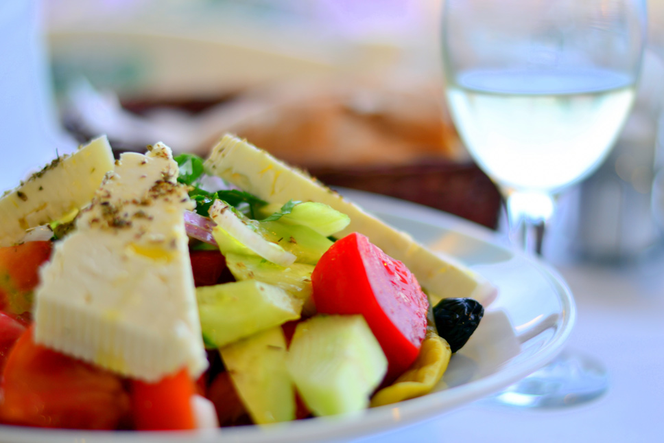 Greek-salad-at-Milos