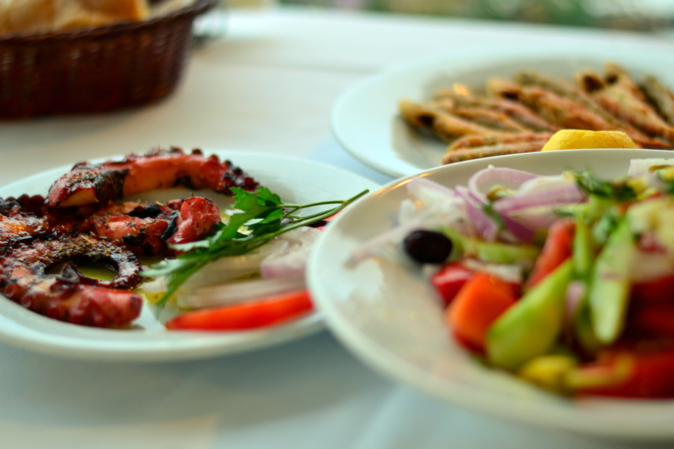 Greek-sea-food-and-greek-salad