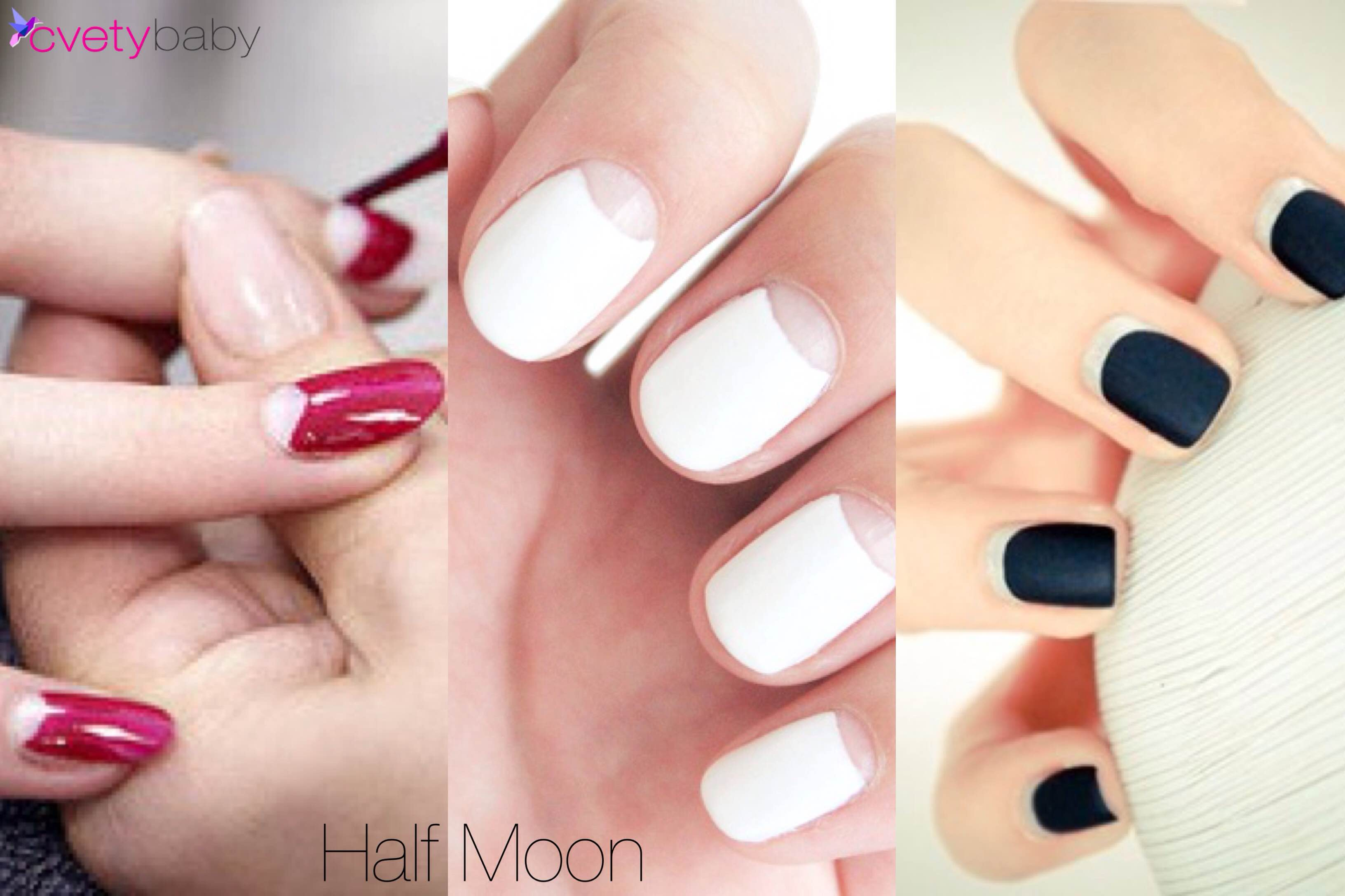 Nail Trends 2016 half moon manicure